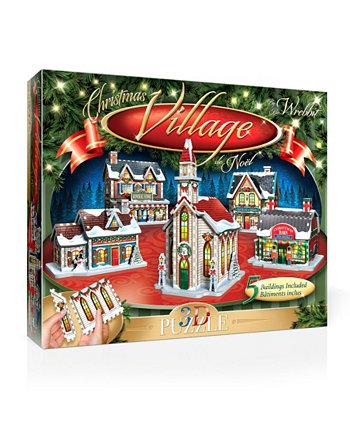 Рождественская деревня 3D головоломка - 116 штук Wrebbit