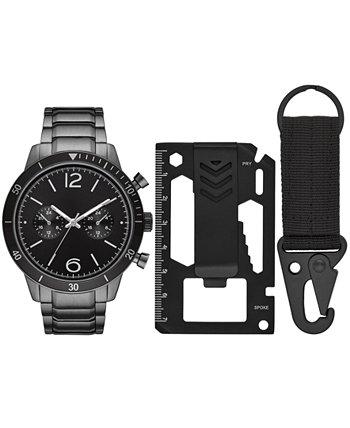 Мужские часы с браслетом из нержавеющей стали с бронзовым покрытием, 46 мм, подарочный набор Folio