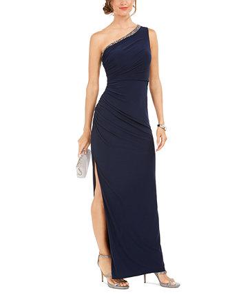 Трикотажное платье на одно плечо Adrianna Papell