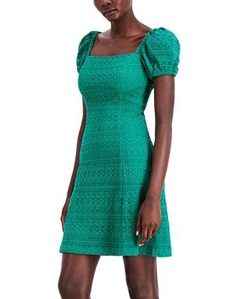 Кружевное платье трапециевидной формы с пышными рукавами Kensie