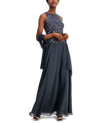 Платье и шарф с украшением A-Line J Kara