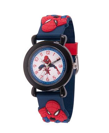 Черные пластиковые часы для учителей времени Marvel Spider-Man Boys Ewatchfactory
