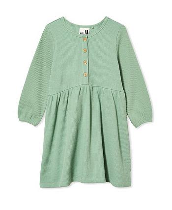 Little Girls Payton Long Sleeve Dress COTTON ON