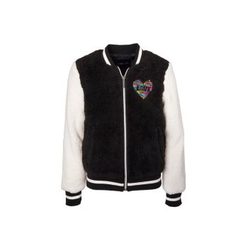Куртка Little Girl's Faux Shearling Varsity Jacket Limited Too