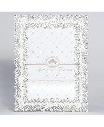 "Металлический каркас Jasmond Silver с кристальным спреем - 5 ""x 7"" Lawrence Frames"