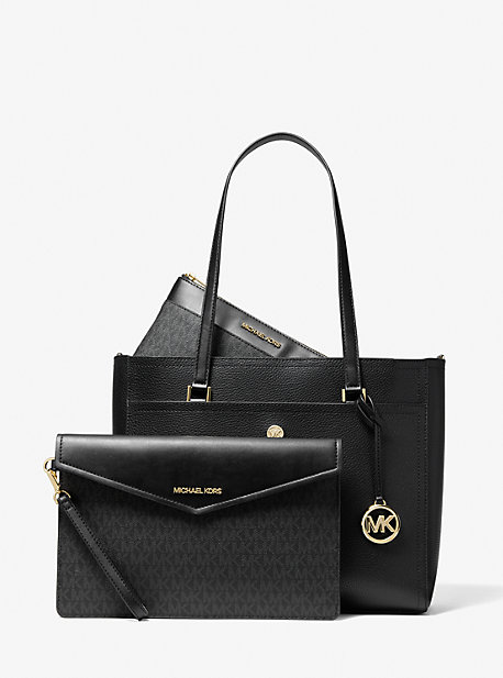 Maisie Large Pebbled Leather 3-in-1 Tote Bag Michael Kors