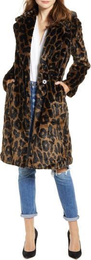 Двустороннее водонепроницаемое пальто из искусственного меха KENDALL + KYLIE KENDALL AND KYLIE