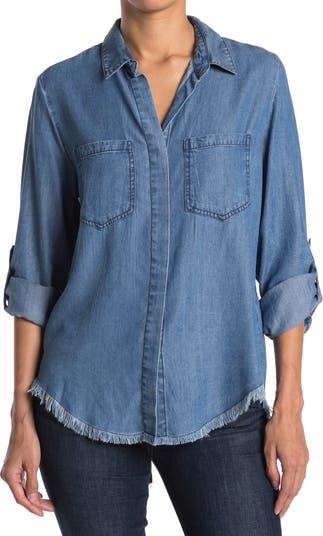 Рубашка из шамбре Riley из ткани Tencel <sup> ™ </sup> с круглыми рукавами Velvet Heart
