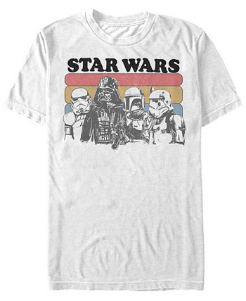 Мужская классическая ретро футболка с короткими рукавами Darth Vader And Stormtroopers Star Wars