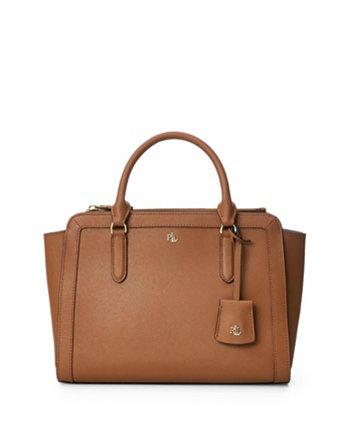 Кожаная сумка-портфель среднего размера с перекрестной штриховкой Brooke Ralph Lauren