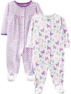 2 пары хлопковых ботинок Sleep and Play (для младенцев) Simple Joys by Carter's