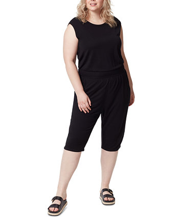 Frayed Trendy Plus Size Cropped Jumpsuit FRAYED