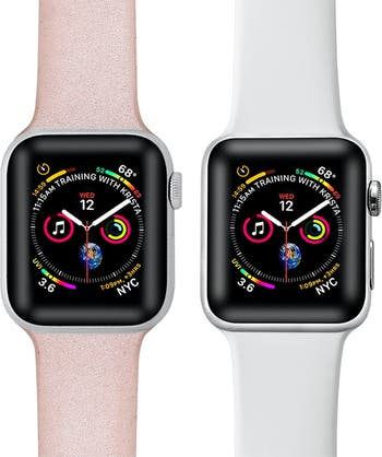 Силиконовые ремешки для Apple Watch - набор из 2 шт. - 42 мм / 44 мм POSH TECH