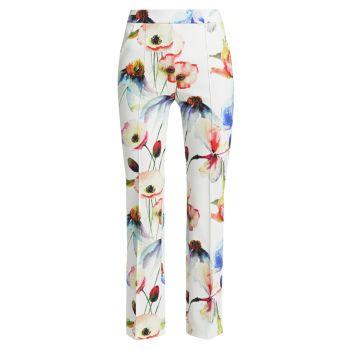 Укороченные брюки из эластичного джерси с цветочным рисунком Nuccia Chiara Boni La Petite Robe