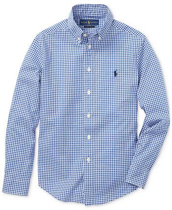 Рубашка из хлопкового поплина для больших мальчиков Ralph Lauren