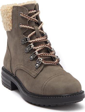 Боевые ботинки на блочном каблуке из искусственной овчины Report