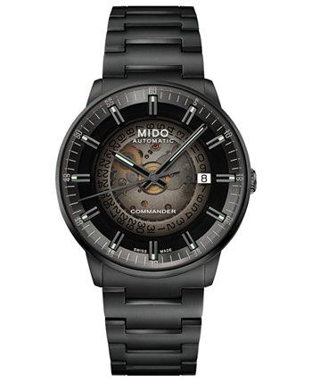 Men's Swiss Automatic Commander Gradient Black PVD Bracelet Watch 40mm MIDO