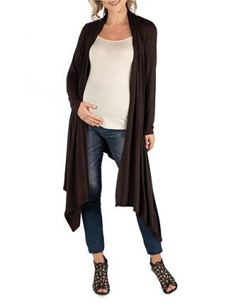 Открытый кардиган для беременных с длинными рукавами 24seven Comfort Apparel