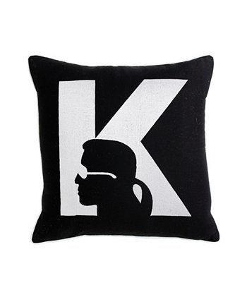 Декоративная подушка Silhouette, 18 x 18 дюймов Karl Lagerfeld Paris
