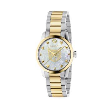 Часы G-Timeless Iconic с перламутром из нержавеющей стали GUCCI
