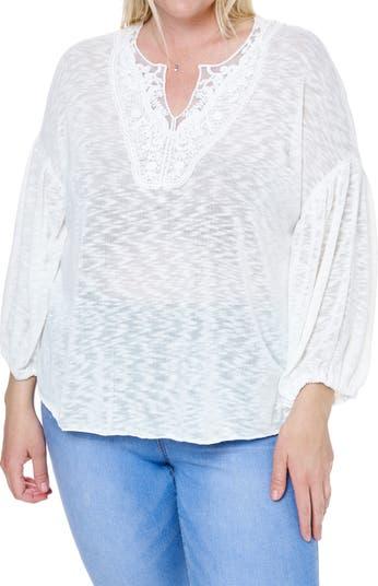 Трикотажная блузка с воздушными рукавами без рукавов SINGLE THREAD
