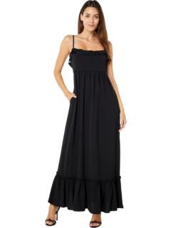 Linen Smocked Midi Dress Laundry by Shelli Segal