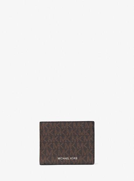 Логотип Тонкий бумажник с брелоком Michael Kors