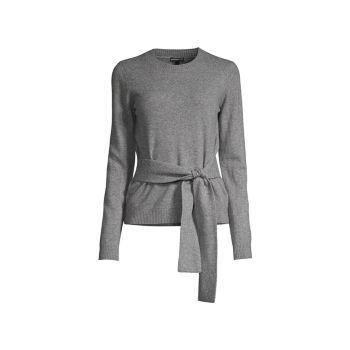 Кашемировый вязаный свитер с завязками на талии Minnie Rose