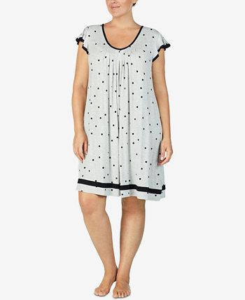 Ночная рубашка большого размера с короткими рукавами Yours to Love Ellen Tracy
