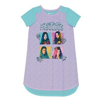 Disney's Descendants Girls 6-12 No Rest for the Fabulous Dorm Nightgown Licensed Character