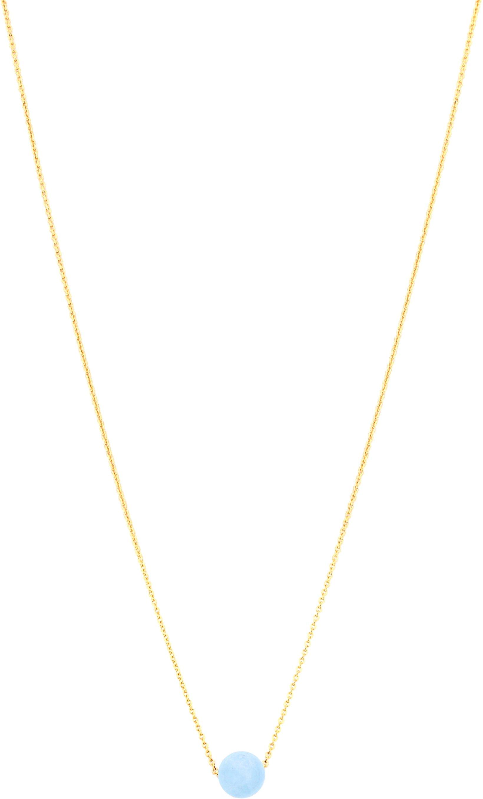 Ожерелье с драгоценным камнем One Love, 18 дюймов, аквамарин Dee Berkley