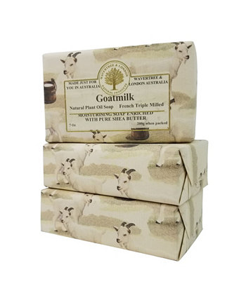Мыло из козьего молока с пакетом из 3, каждая 7 унций Wavertree & London