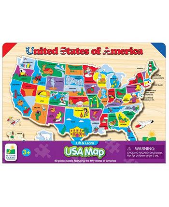 """Головоломка """"Подними и изучи США"""" The Learning Journey"""