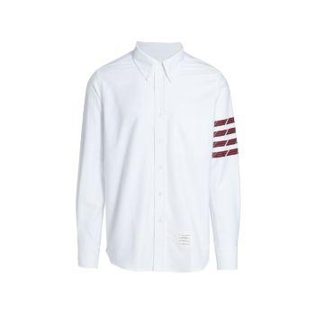 Рубашка на пуговицах с расстегнутым воротником THOM BROWNE