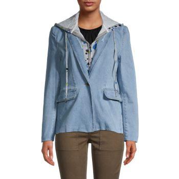 Джинсовый пиджак 2-в-1 с капюшоном Central Park West