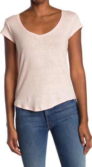 Tate Linen Blend Scoop Neck T-Shirt FAHERTY BRAND