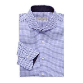 Modern-Fit Check Dress Shirt Canali