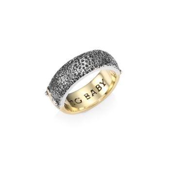 Двухцветное кольцо Инь Ян King Baby Studio