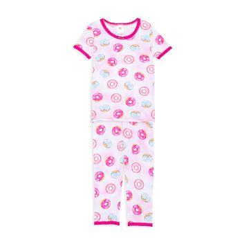 Маленькая девочка & amp; Пижамный комплект из 2 предметов с принтом пончиков для девочек Esme