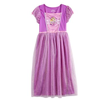 Girls Disney's Tangled Rapunzel Fantasy Princess Nightgown Licensed Character