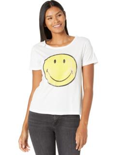 Винтажная хлопковая футболка со смайликом с короткими рукавами The Original Retro Brand