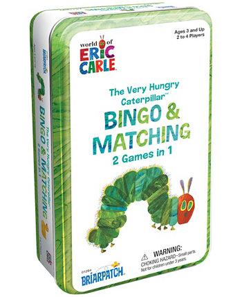 очень голодное оловянное бинго Caterpillar & Matching 2 в 1 олово для карточной игры Briarpatch