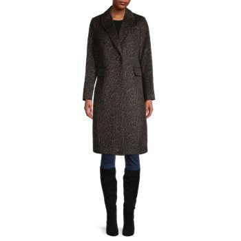 Пальто с леопардовым принтом T Tahari