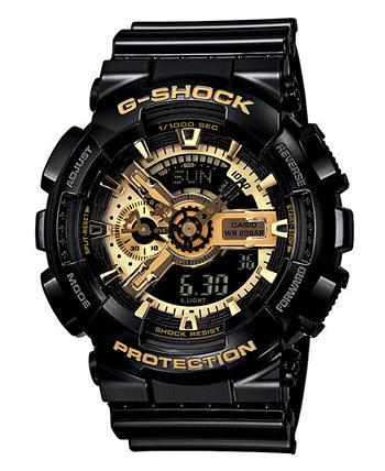 Мужские аналоговые цифровые черные часы с ремешком из смолы G-Shock