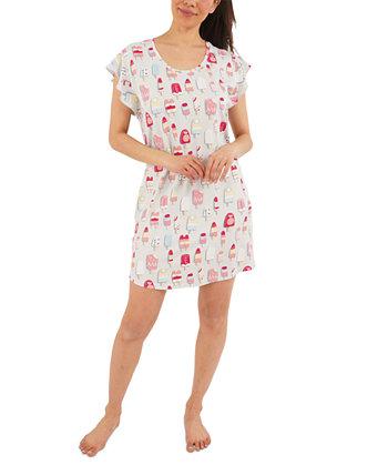 Рубашка для сна с принтом Popsicle и пижамный комплект для резинки для волос Munki Munki