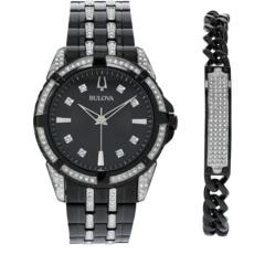 IP Crystal Gift Set with Bracelet - 98K109 Bulova