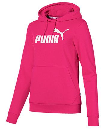 Толстовка большого размера с капюшоном из флиса с логотипом PUMA