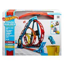 Hot Wheels Track Builder Неограниченный комплект тройной петли Mattel