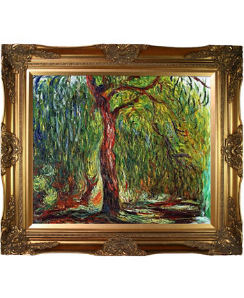 "By Overstockart Weeping Willow with Victorian Frame, 28"" x 32"" La Pastiche"