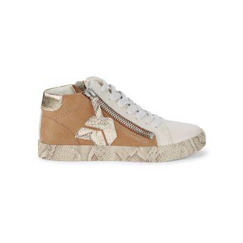 Кожаные кроссовки Zonya с высоким берцем Dolce Vita